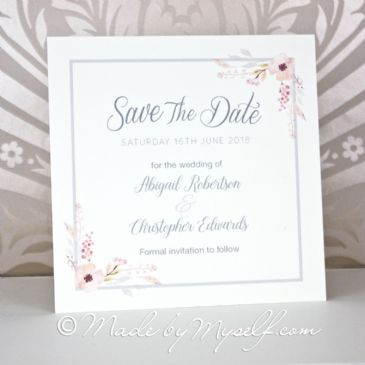Floral Circle Save The Date